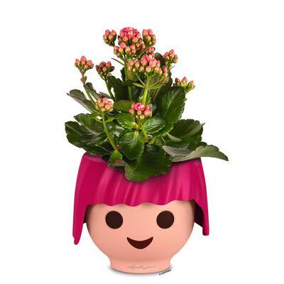 LECHUZA Stolní květináč OJO ALL-IN-ONE rubínově růžový