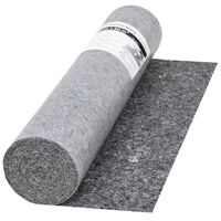 vidaXL Protiskluzové folie, malířský fleece, 50 m 280 g/m², šedá