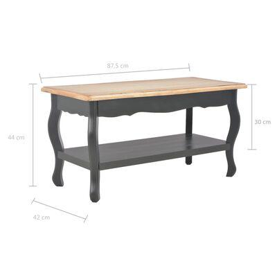 vidaXL Konferenční stolek černý a hnědý 87,5x42x44 cm masivní borovice