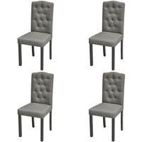 vidaXL Jídelní židle 4 ks šedé textil