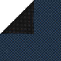 vidaXL Plovoucí PE solární plachta na bazén 549 x 274 cm černo-modrá