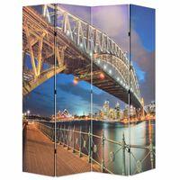 vidaXL Skládací paraván 160 x 170 cm Přístavní most v Sydney