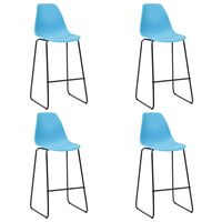vidaXL Barové židle 4 ks modré plast
