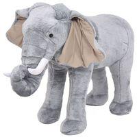 vidaXL Stojící plyšová hračka, slon, šedý, XXL