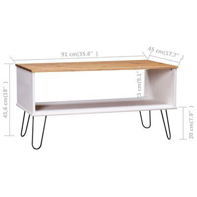 vidaXL Konferenční stolek New York Range bílý a světlé dřevo borovice