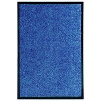 vidaXL Rohožka pratelná modrá 40 x 60 cm