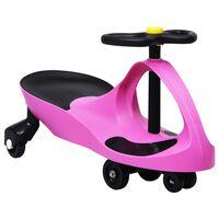 vidaXL Dětské vozítko a odrážedlo SwingCar s klaksonem růžové
