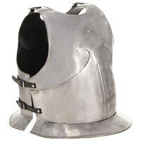 vidaXL Středověký rytířský kyrys pro LARPy replika stříbro ocel