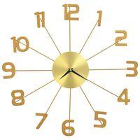 vidaXL Nástěnné hodiny kovové 50 cm zlaté