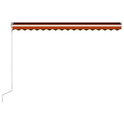 vidaXL Automatická zatahovací markýza 400 x 300 cm oranžovo-hnědá