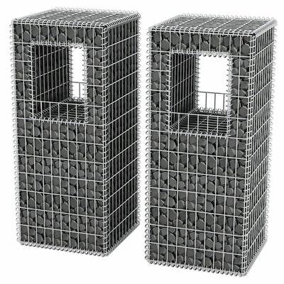 vidaXL Gabionový sloup / truhlík 2 ks ocelový 50 x 50 x 120 cm