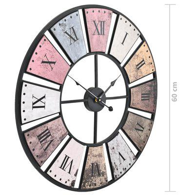 vidaXL Vintage nástěnné hodiny se strojkem Quartz 60 cm XXL,
