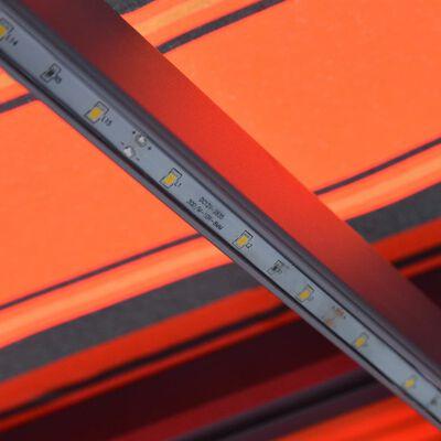 vidaXL Ručně zatahovací markýza s LED světlem 600x300 cm oranžovohnědá