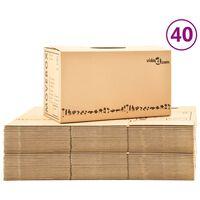vidaXL Kartónové krabice na stěhování XXL 40 ks 60 x 33 x 34 cm