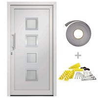 vidaXL Vchodové dveře bílé 98 x 208 cm